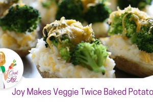 Joy Makes Veggie Twice Baked Potatoes