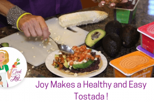 Bean, Corn and Avocado Tostadas